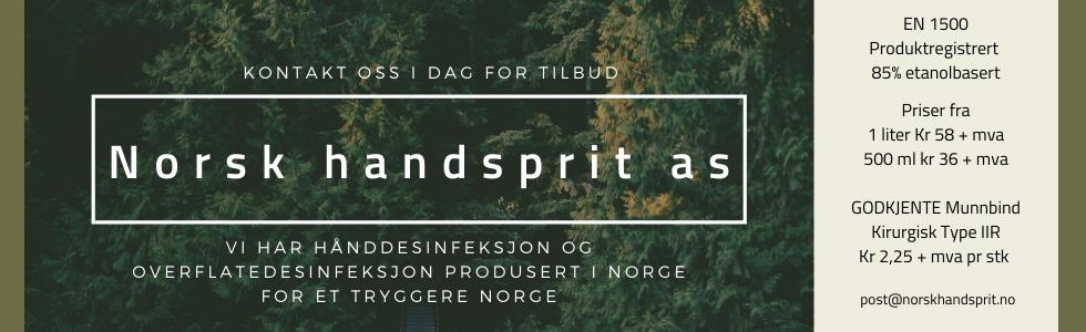 Annonse for Norsk håndsprit